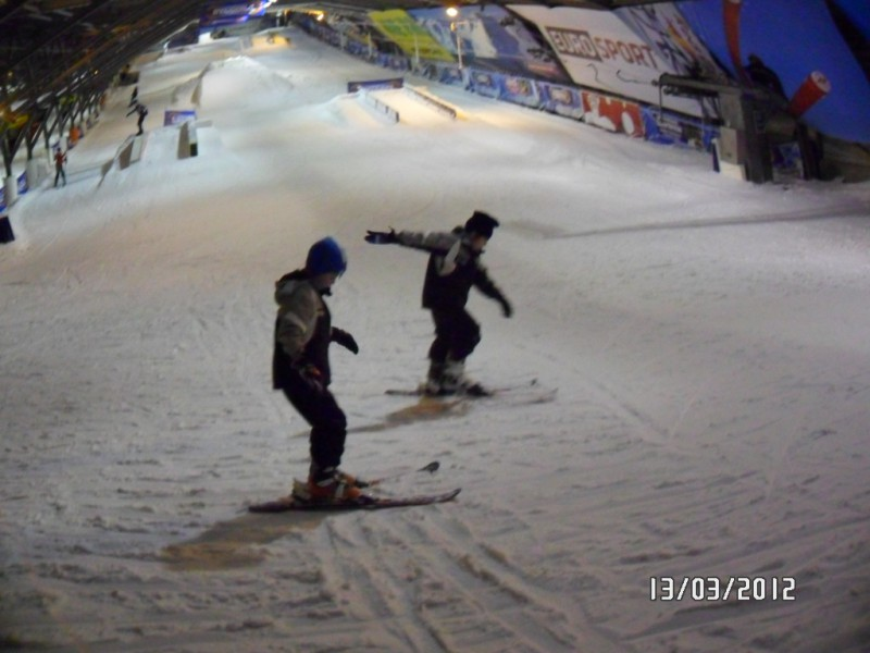 Daan en Niels in Snowworld