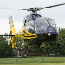 Helikoptervlucht voor 3 personen + diner in sterrenrestaurant Grand Hotel Huis ter Duin