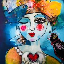 Schilderij 'Start your day with Love!' van Maureen Knobben
